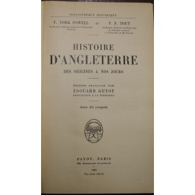 Histoire d'Angleterre des...